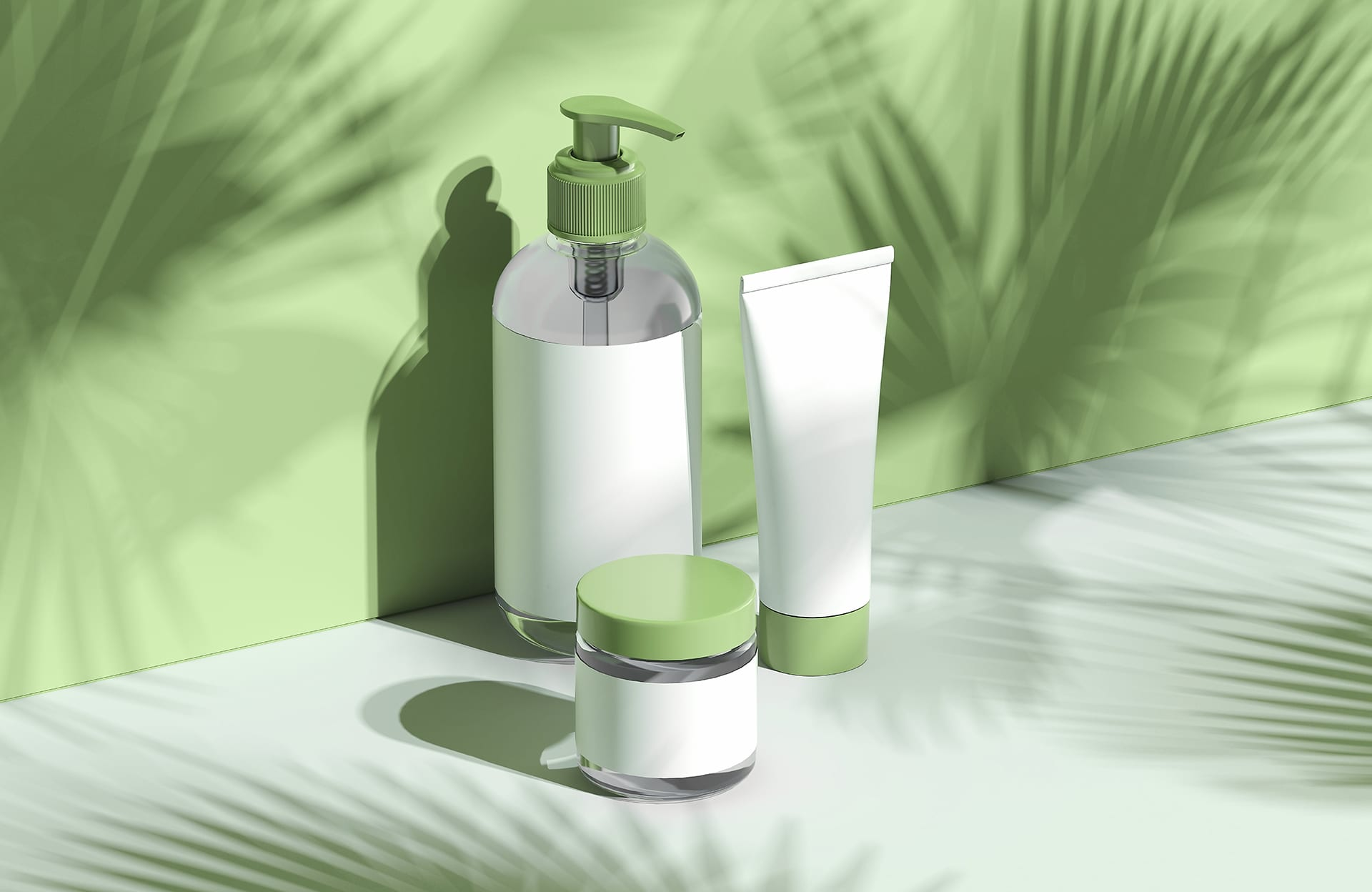 Cosmetic Bottle Set for cream and lotion